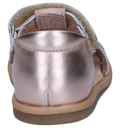 Zilveren Babysandalen Shoo Pom Tity Fringe in nubuck (242879)