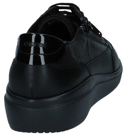 Geox Chaussures à lacets en Noir en imitation cuir (223040)