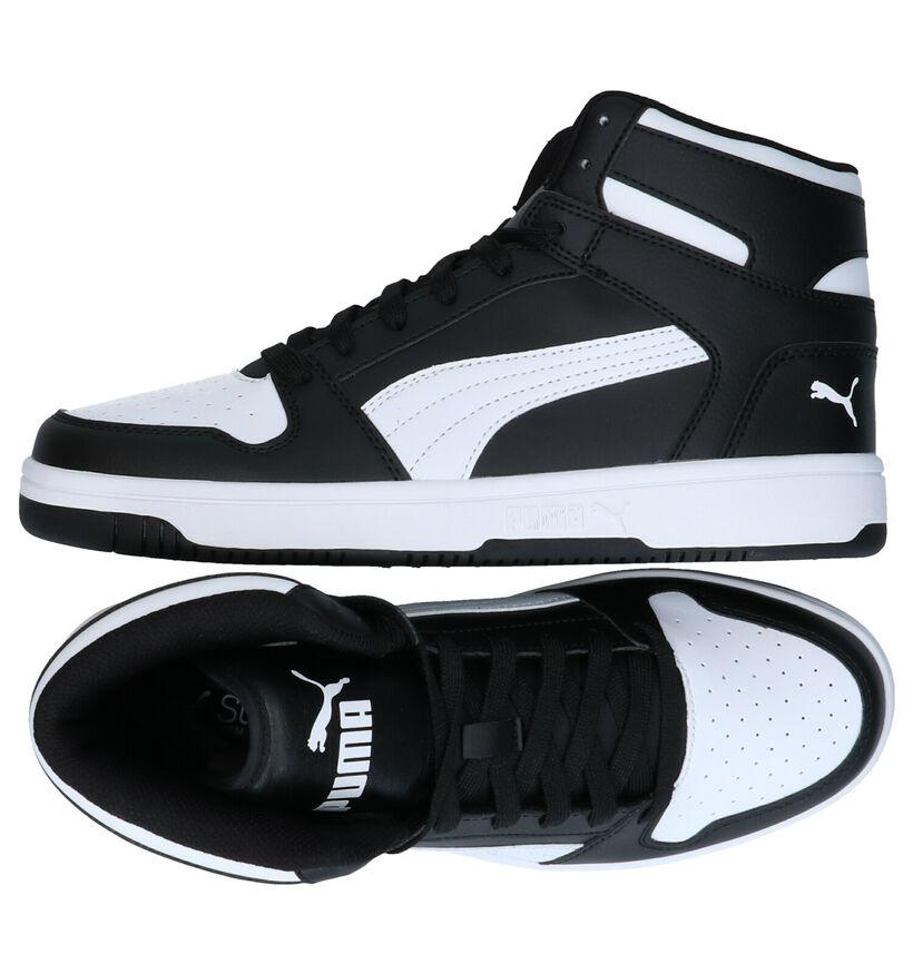 Puma Rebound Baskets en Noir en simili cuir (280798)