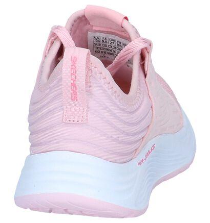 Roze Slip-on Sneakers Skechers Skyline in kunstleer (250662)