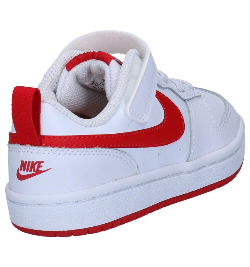 Nike Court Borough Low Baskets en Blanc en cuir (274596)
