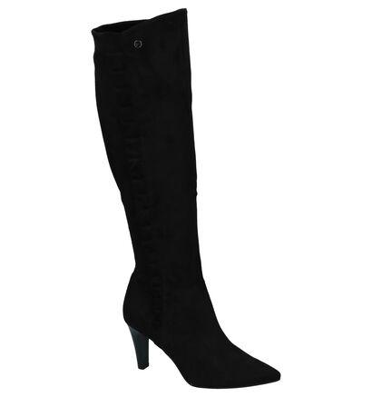 Tamaris Bottes hautes en Noir en textile (226786)