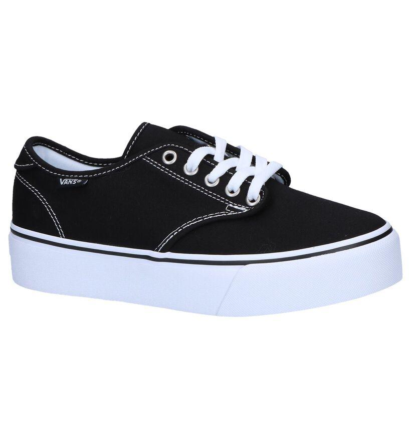 Vans Camden Platform Zwarte Skateschoenen in stof (253464)