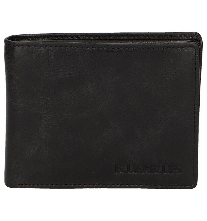 Zwarte Portefeuille Euro-Leather in leer (262485)