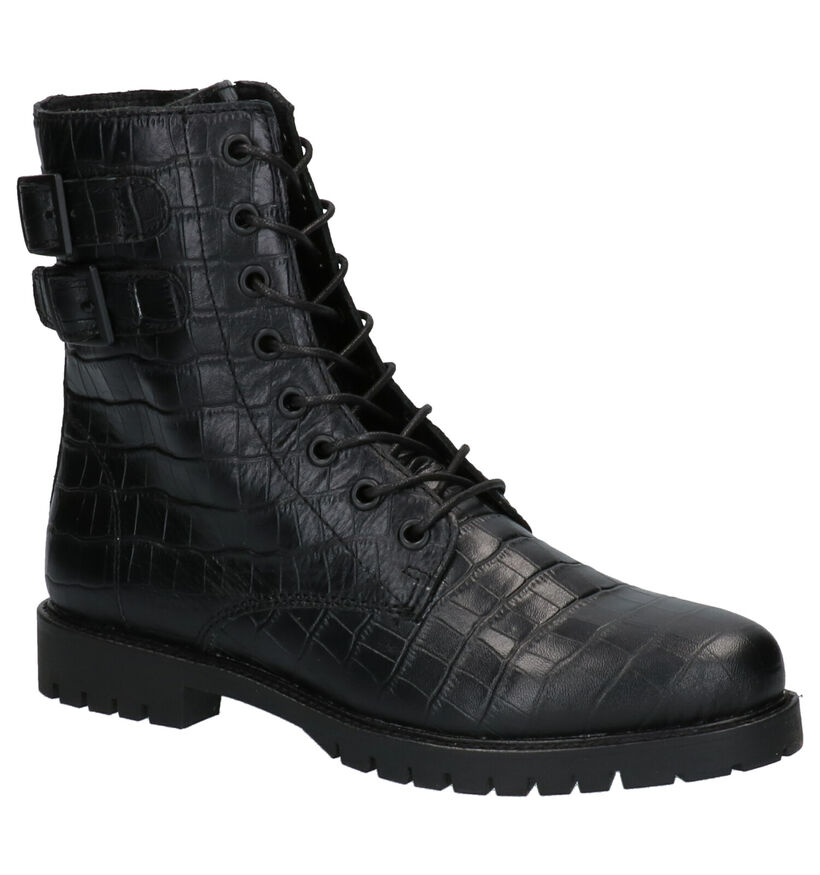 Hampton Bays Bee Zwarte Boots in leer (259299)