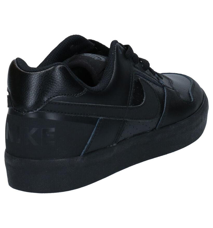 Nike SB Delta Force Vulc Zwarte Sneakers in kunstleer (266545)