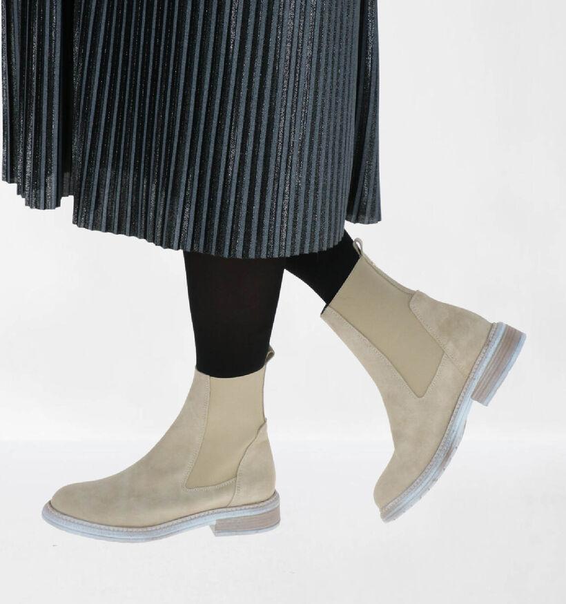 Tango Chelsea Boots en Beige en daim (293967)