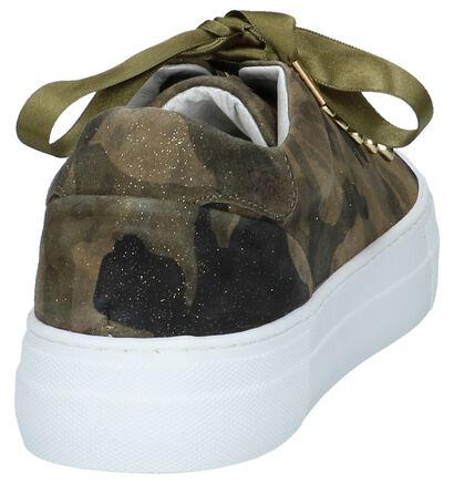 Kaki Hip Sneakers Camouflage in nubuck (221779)
