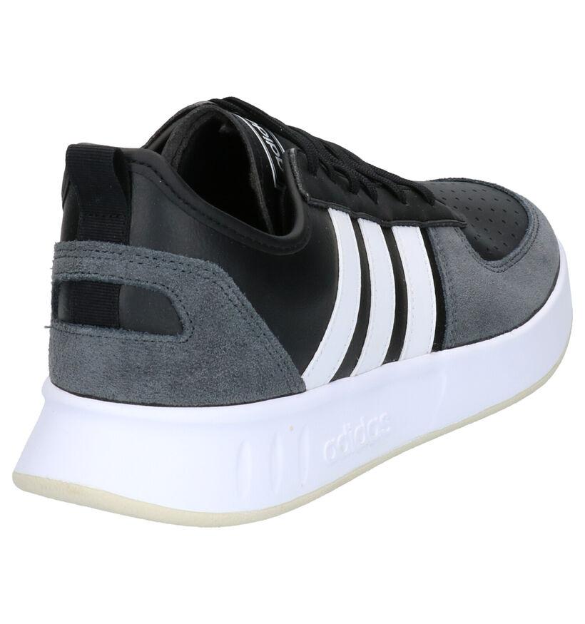 adidas Court 80S Zwarte Sneakers in kunstleer (252496)