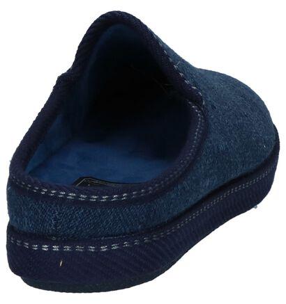 Donker Blauwe Pantoffels Arizona in stof (232764)