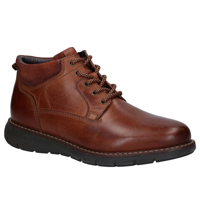 Borgo Sport Chaussures Habillées en Cognac en cuir (278501)