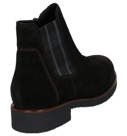 Gabor Zwarte Chelsea Boots in daim (260134)