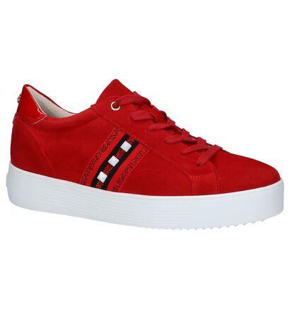 Rode Sneakers Tamaris met Studs in daim (235774)