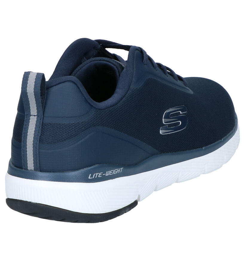Skechers Flex Advantage Sneakers en Bleu en textile (273296)