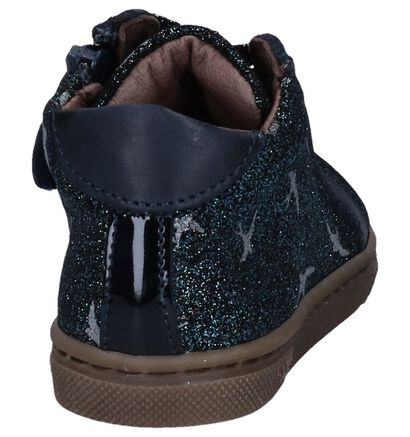 STONES and BONES Chaussures basses en Bleu foncé en nubuck (255490)