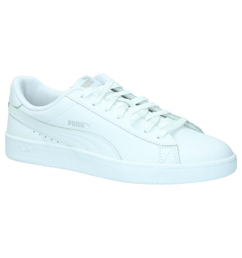Puma Court Breaker Baskets en Blanc en cuir (265747)