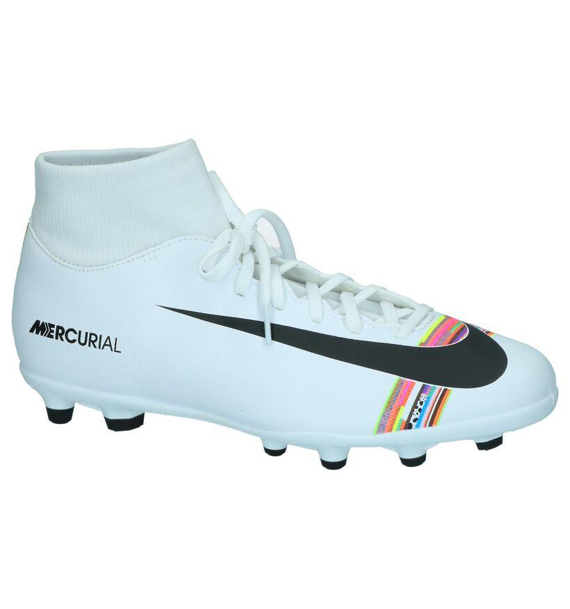 Nike Chaussures de foot en Blanc en simili cuir (250399)