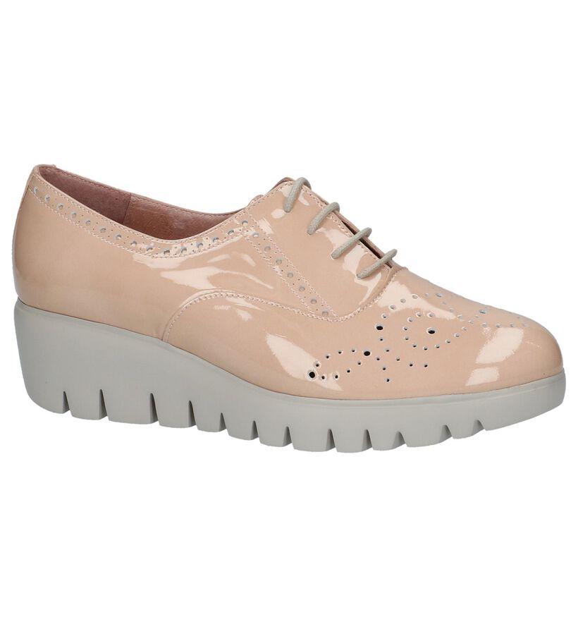 Wonders Chaussures à lacets en Rose en cuir (217728)