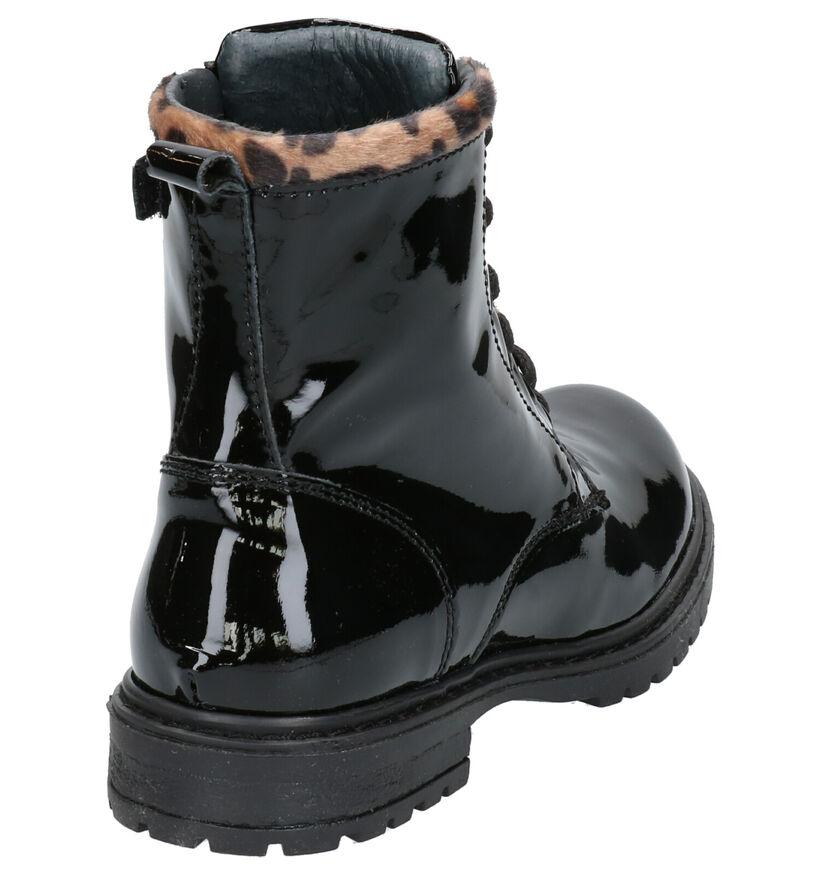 Milo & Mila Chaussures hautes en Noir en cuir (254939)