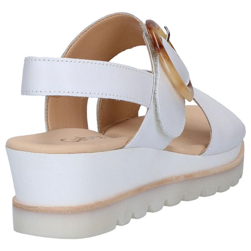 Gabor Best Fitting Sandales en Blanc en cuir (271743)
