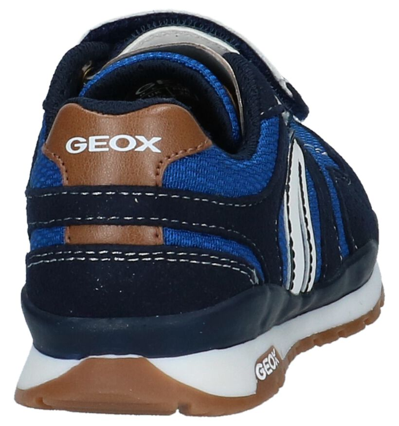 Geox Donkerblauwe Lage Sportieve Sneakers in stof (210527)