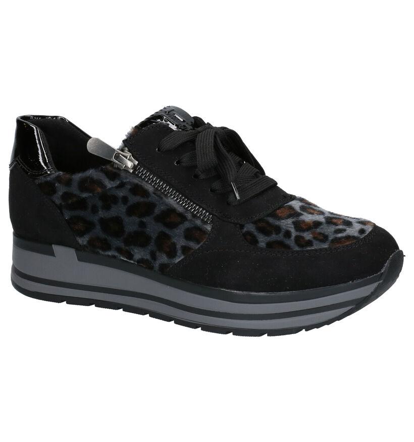 Youh! Chaussures à lacets en Noir en simili cuir (253788)