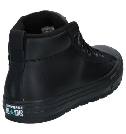 Converse Chuck Taylor AS Street Zwarte Sneakers in leer (263446)