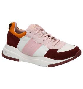 Ted Baker Weverdi Roze Sneakers in daim (280572)