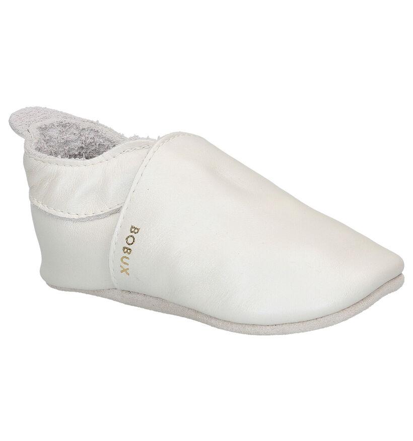 Bobux Simple Shoe Pearl Ecru Parkschoentjes in leer (280193)