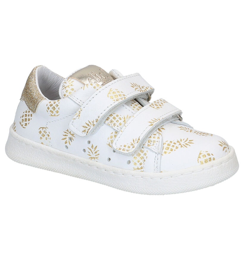 Witte Lage Sneakers Clic! in leer (270512)