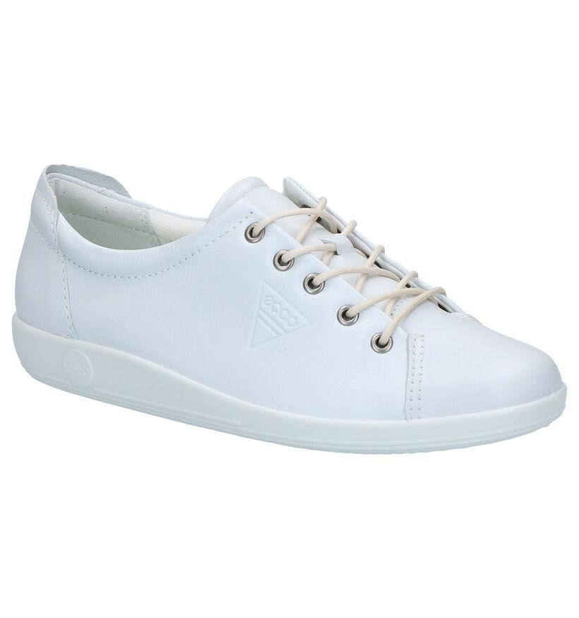 ECCO Soft 7 Chaussures à lacets en Blanc en cuir (270020)