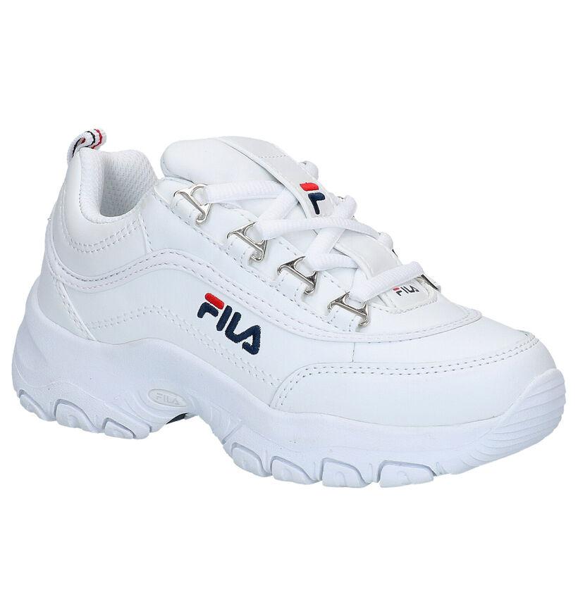 Fila Strada Witte Sneakers in kunstleer (265811)