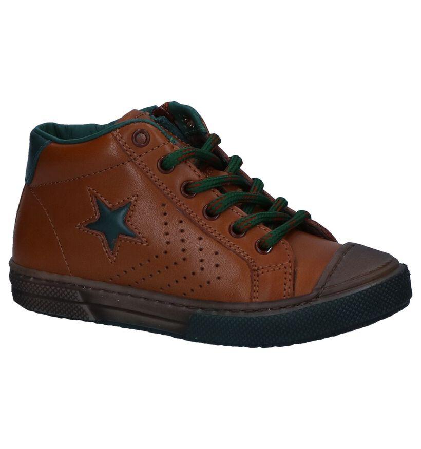 STONES and BONES Chaussures hautes en Cognac en cuir (255438)