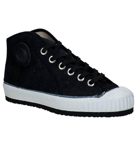 0051 Jeans Baskets en Noir