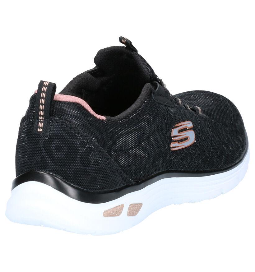 Skechers Empire D'Lux Zwarte Sneakers in stof (264498)