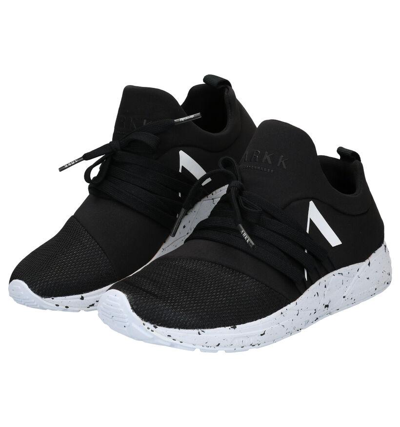 ARKK Raven Mesh Zwarte Slip-on Sneakers in stof (279275)