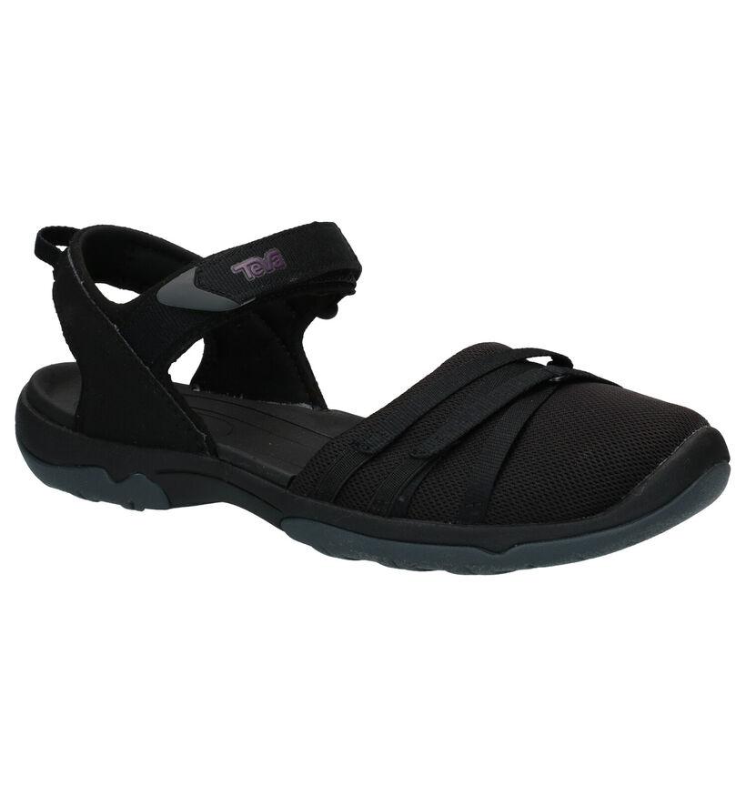 Teva Tirra Zwarte Sandalen in stof (270626)