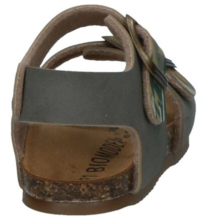 Biomodex Sandales en Vert kaki en simili cuir (247824)