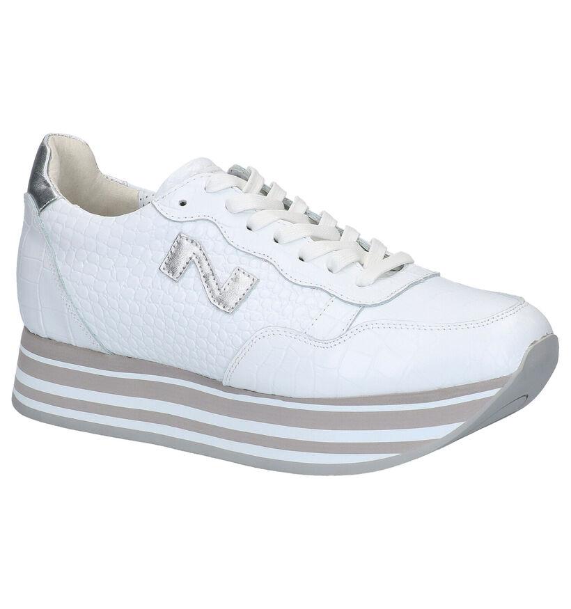 Nathan-Baume Chaussures à lacets en Blanc en cuir (272867)