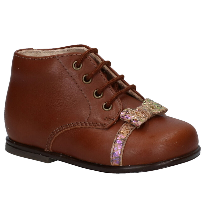 Beberlis Chaussures pour bébé  en Cognac en cuir (281144)