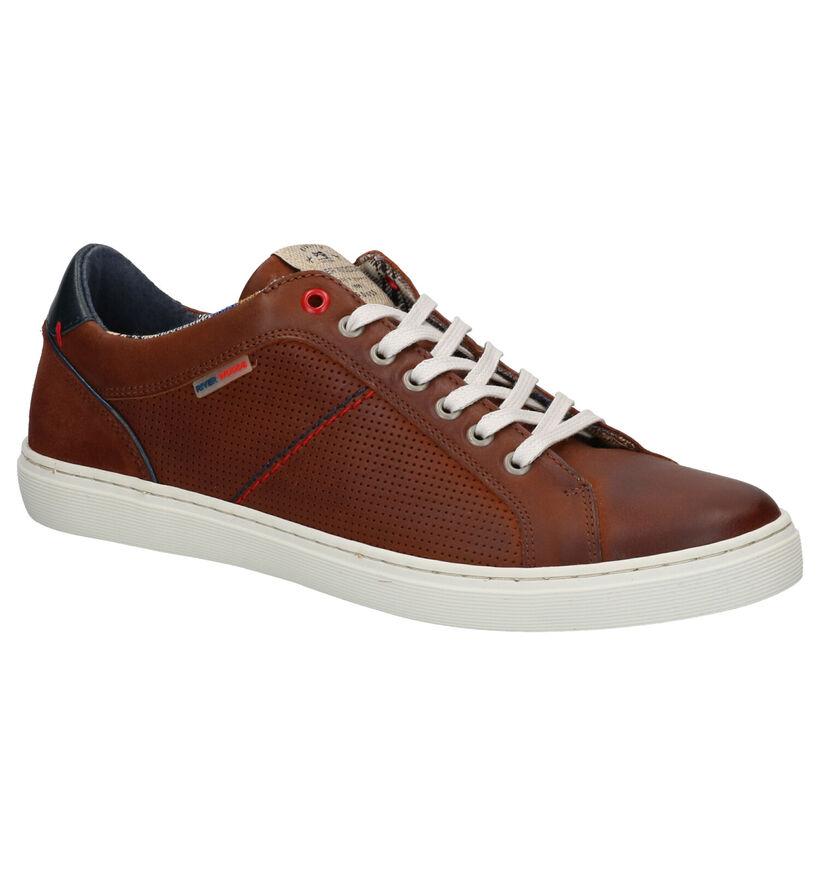 River Woods Blair Chaussures à Lacets en Cognac en cuir (271153)