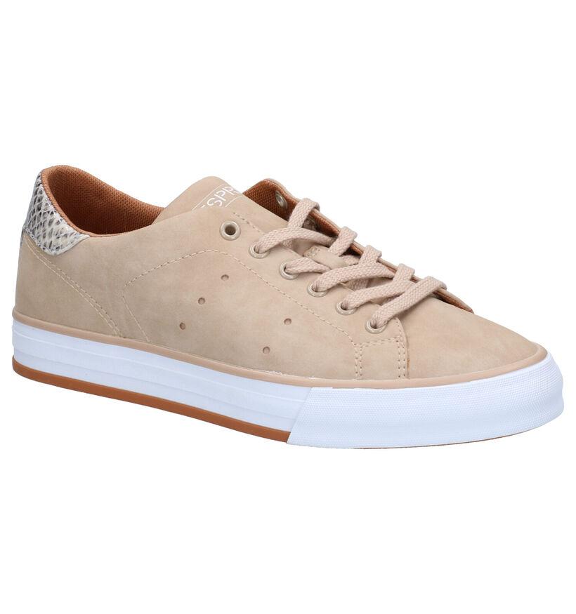 Esprit Chaussures à lacets en Beige en simili cuir (275609)