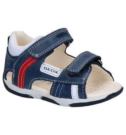 Geox Blauwe Sandalen in leer (267485)