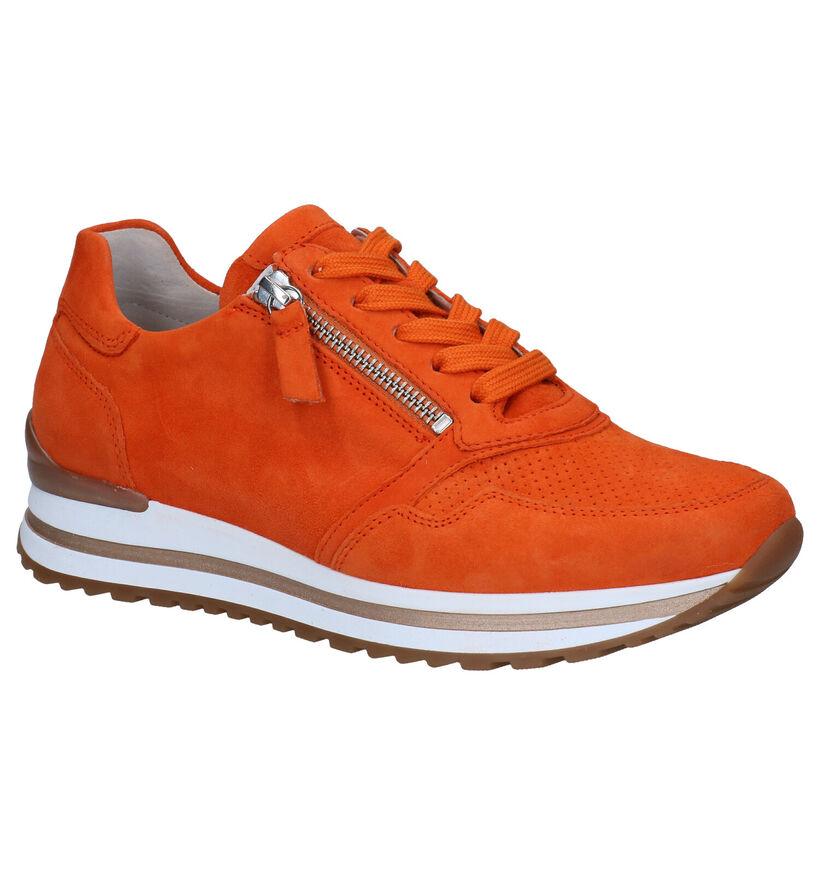 Gabor OptiFit Oranje Sneakers in daim (287980)