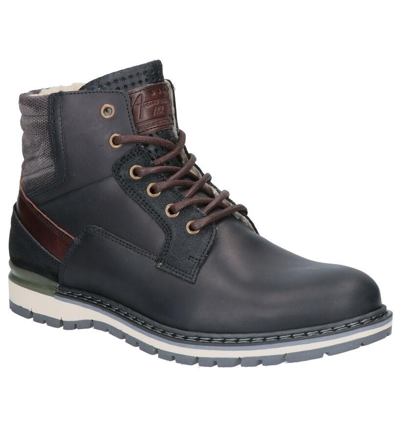 Bullboxer Zwarte Boots in leer (256321)