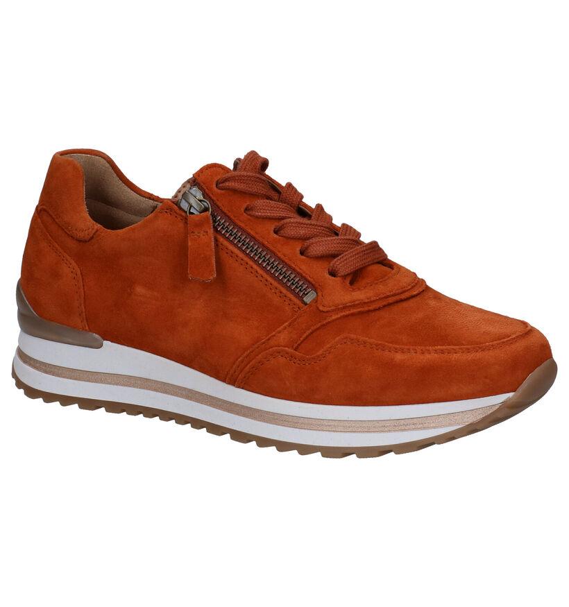 Gabor OptiFit Chaussures à Lacets en Vert kaki en daim (282377)