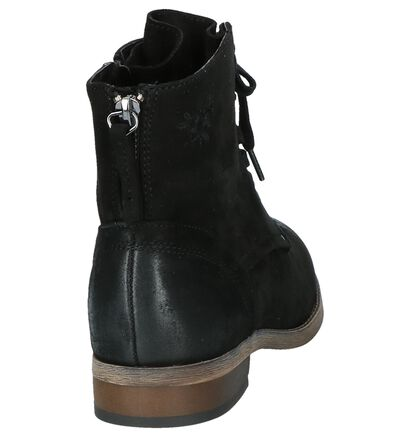 Dazzle Bottines Zwart in stof (203228)