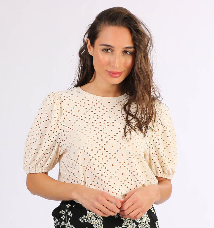Vero Moda Columbia T-shirt en Beige