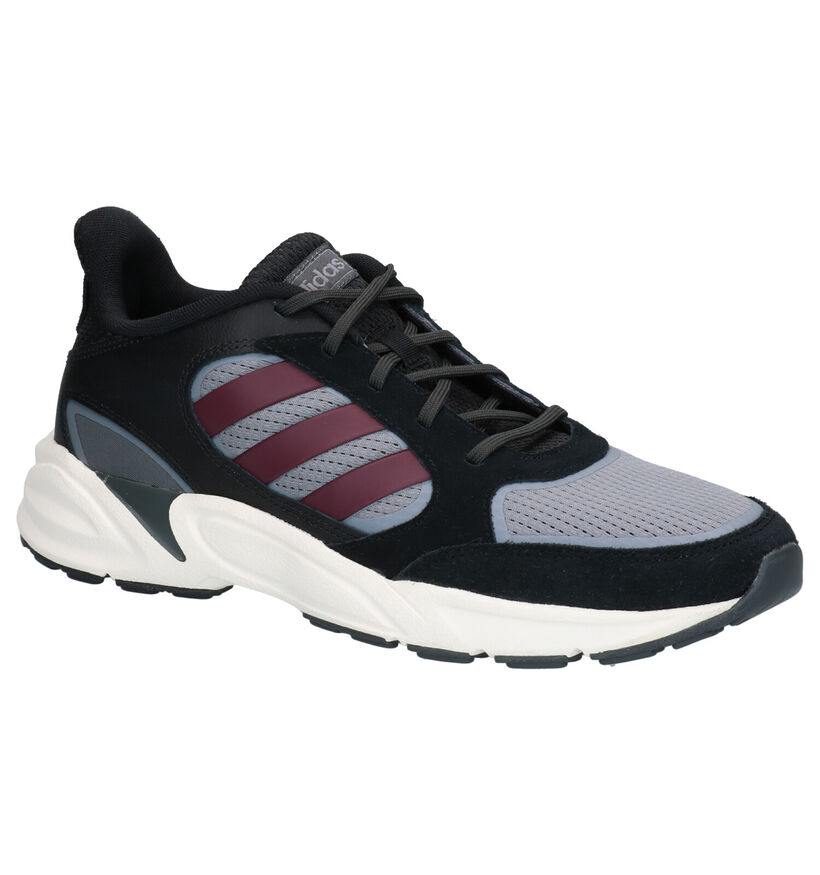 adidas 90S Valasion Zwart/Grijze Sneakers in leer (261833)