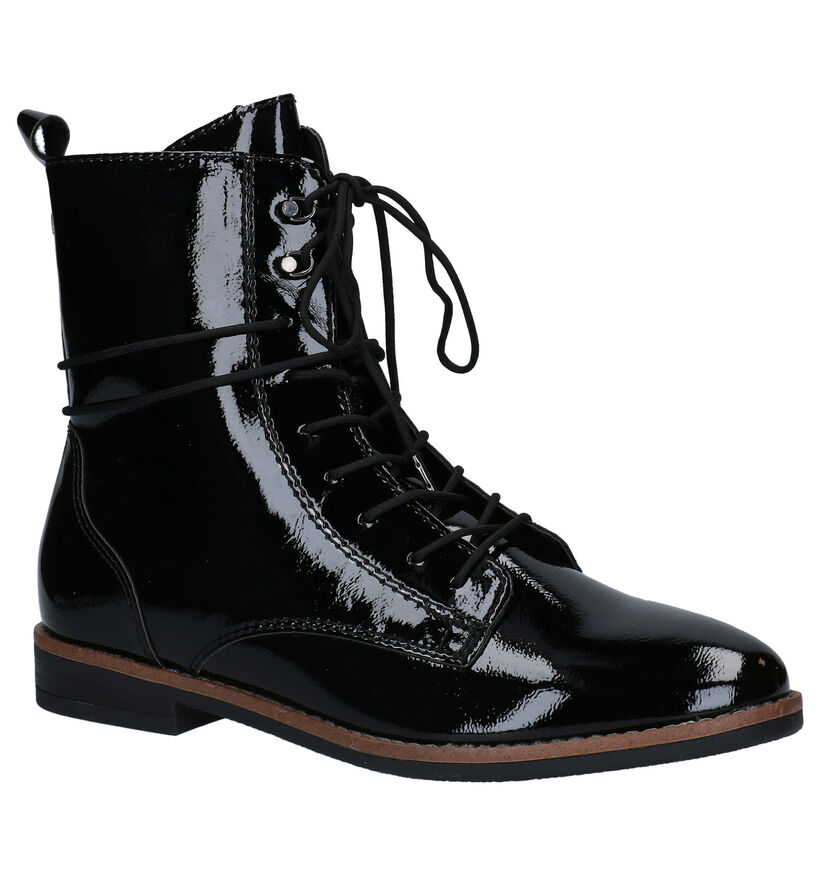 Tamaris TOUCH it Bottines en Noir en cuir verni (280667)